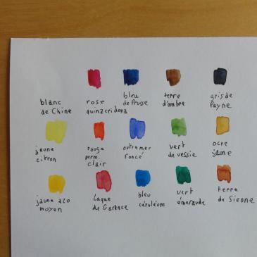 Die Farben auf Französisch